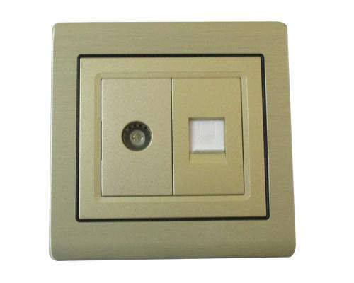 ổ cắm tivi và ổ cắm mạng ES-OC001