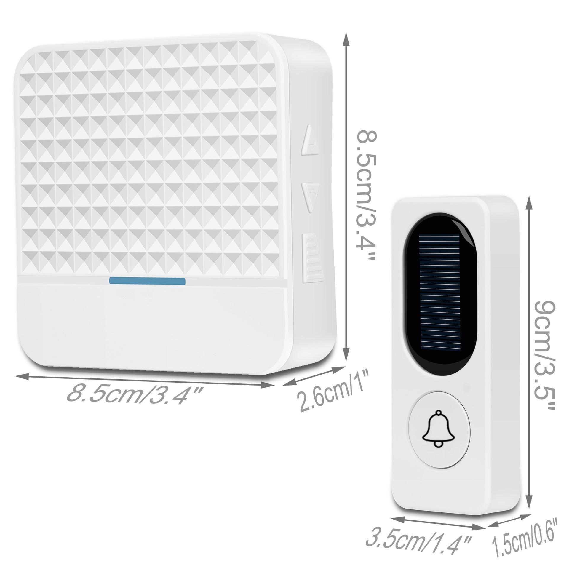 Chuông cửa không dây năng lượng mặt trời ES-D09