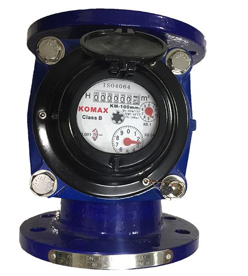 Đồng hồ đo nước sạch DN125 Komax thân gang mặt bích