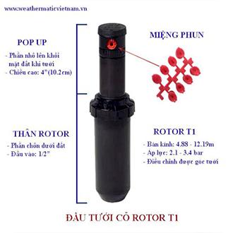 Vòi tưới phun sương rotor Pop-up T1