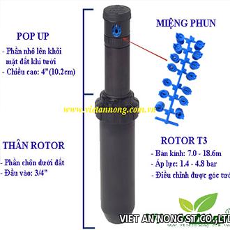 Vòi tưới phun sương rotor Pop-up T3