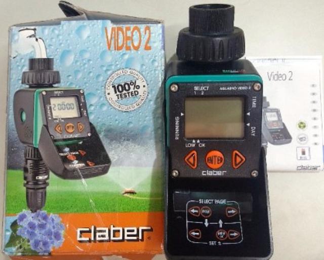 Bộ timer điều khiển tưới tự động claber 8428 dùng pin AAA Italia
