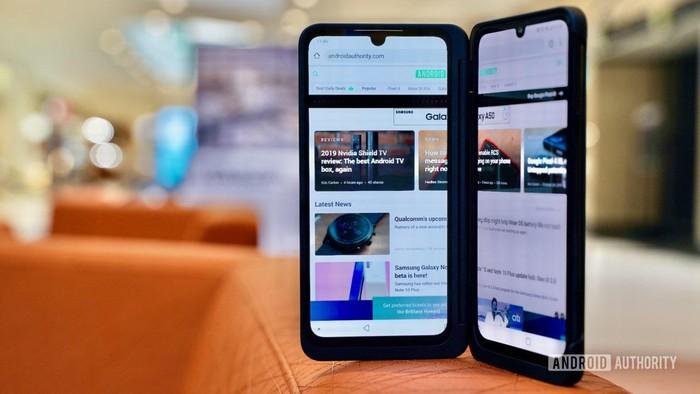 Thiết kế hai màn hình của LG G8X - Ảnh sưu tầm