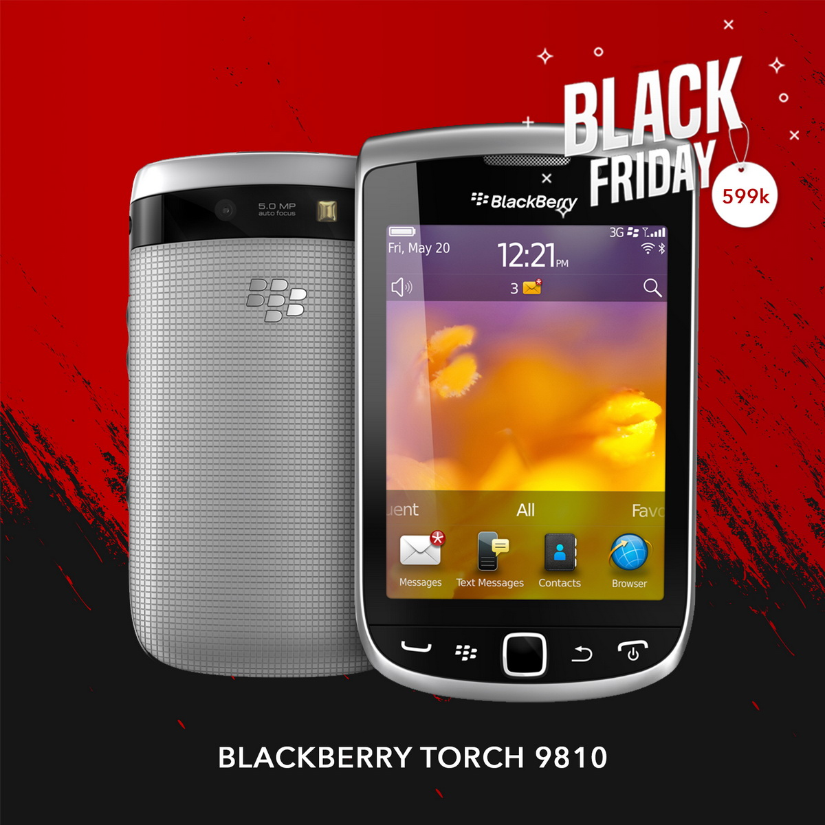 Blackberry Torch 9810 |  Black Friday