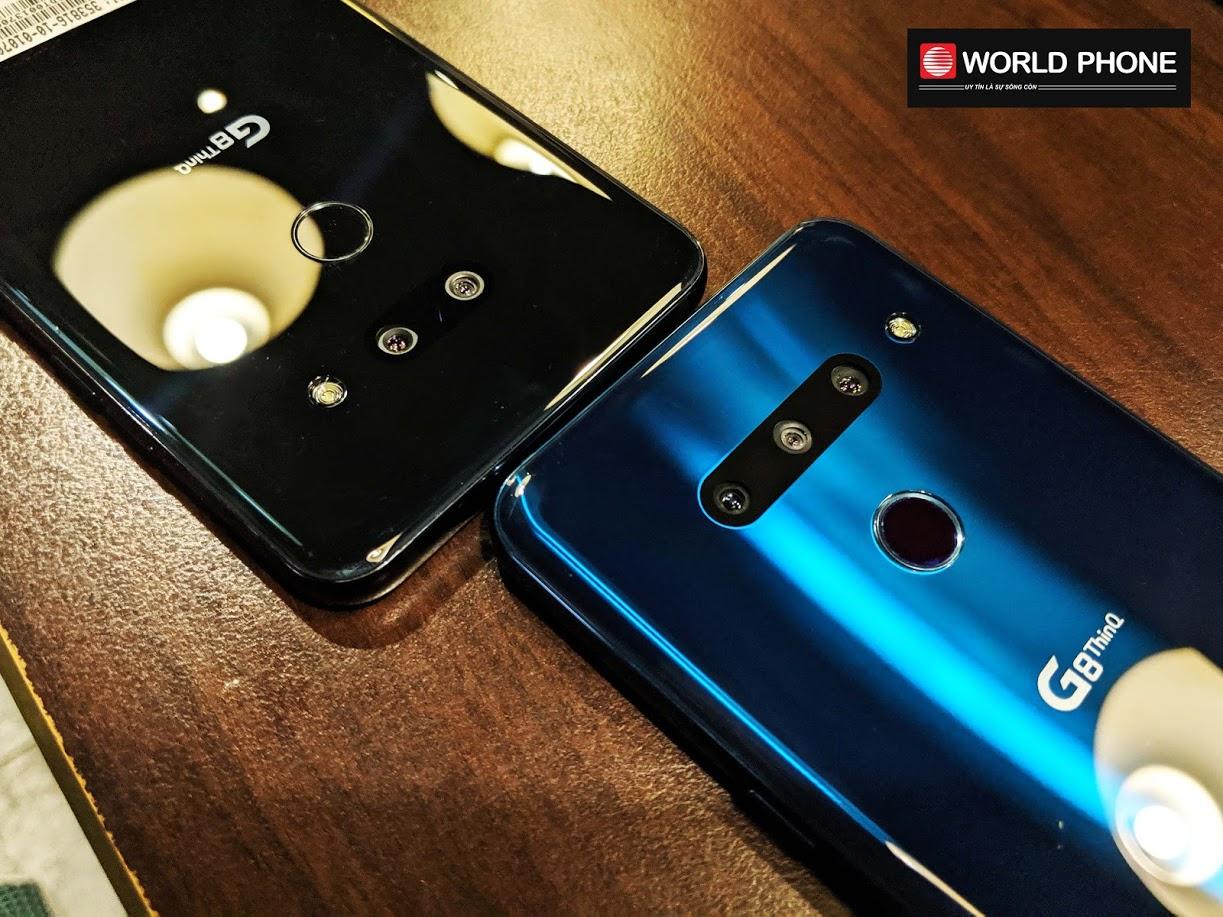 LG G8 Hàn (phải) với 3 camera sau và LG G8 Mỹ (trái) khiêm tốn hơn với 2 camera sau