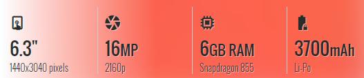 Thông số kỹ thuật tóm tắt của Google Pixel 4 XL