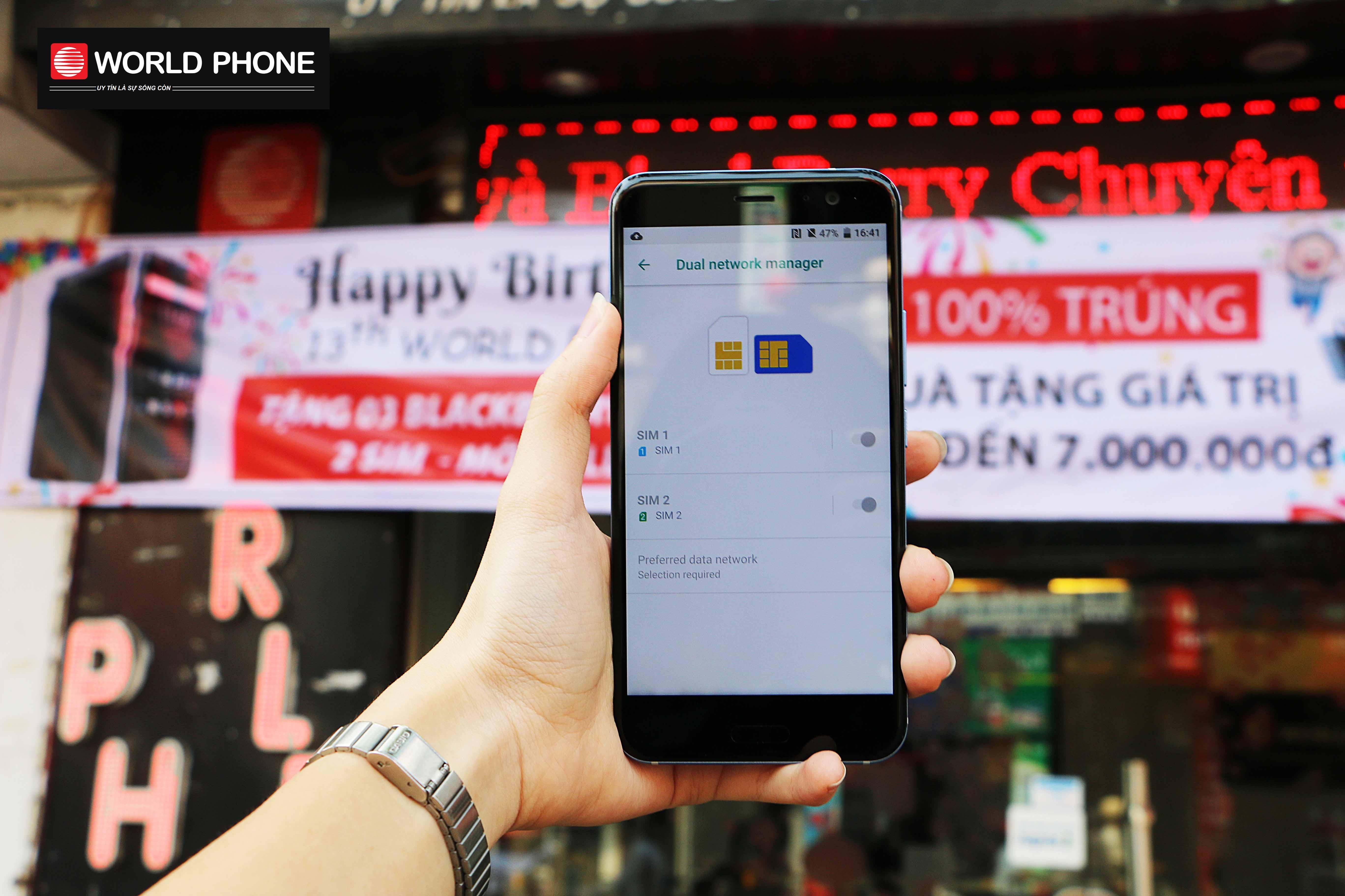 HTC U11 phiên bản 2 SIM hàng xách tay chính hãng
