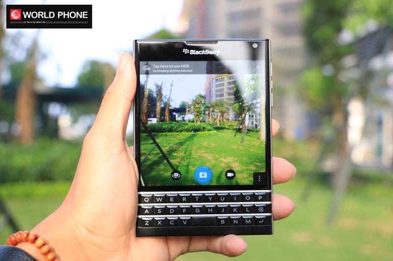 Camera Blackberry Passport với màu sắc khá tươi tắn