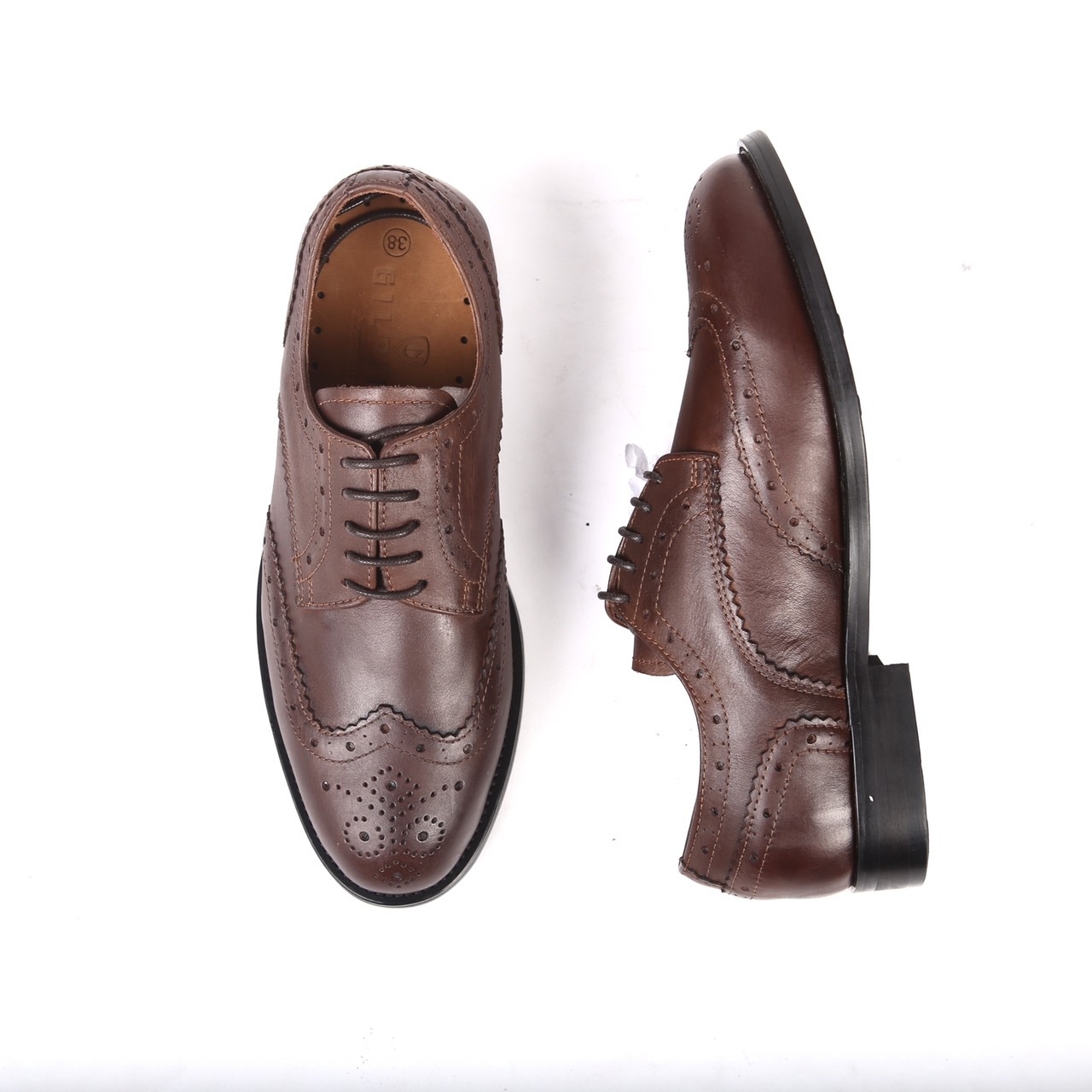 Wing 13 - Dark brown leather