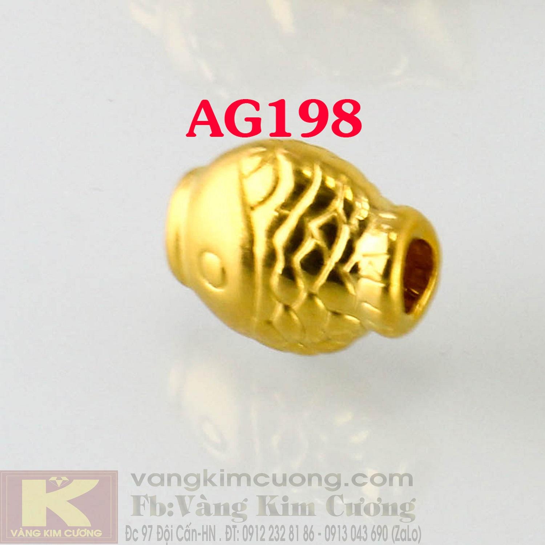 Charm cá Kôi vàng 24k mã AG198
