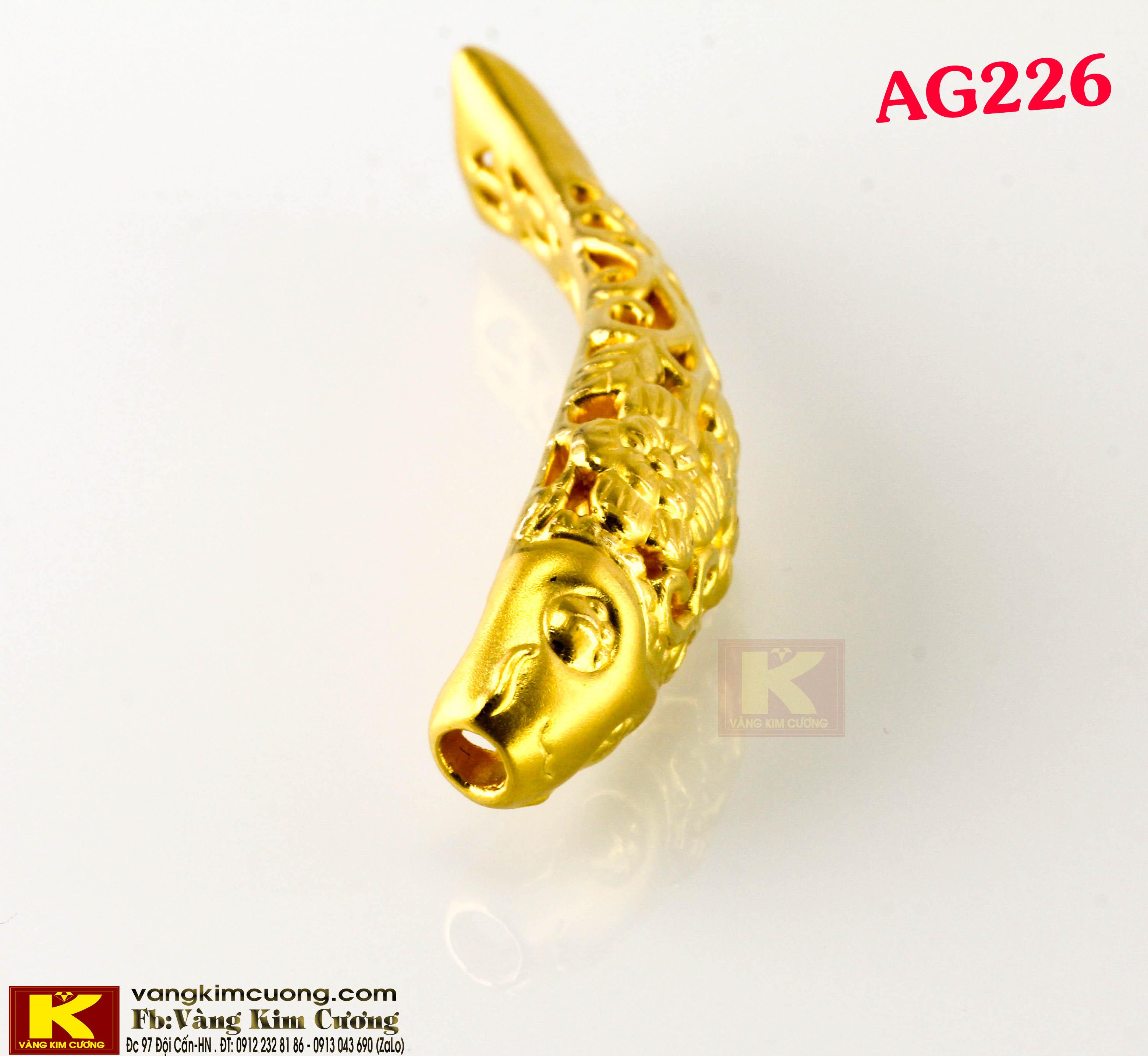 Charm cá chép vàng 24k mã AG226