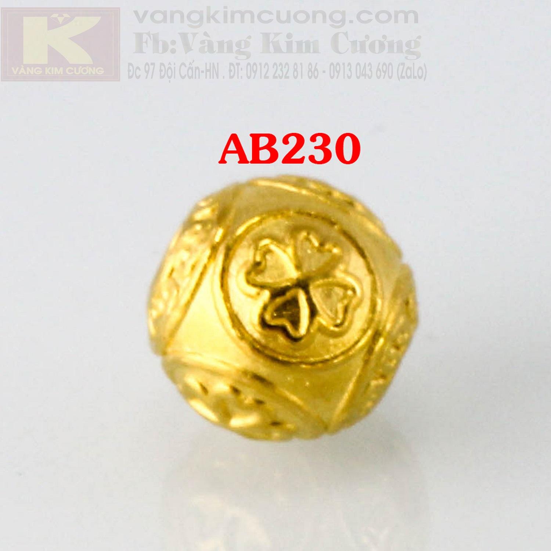 Charm cầu may mắn 24k mã AB230