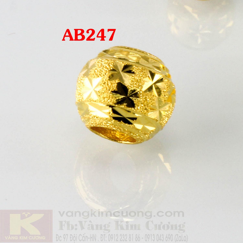 Charm cầu may mắn 24k mã AB247