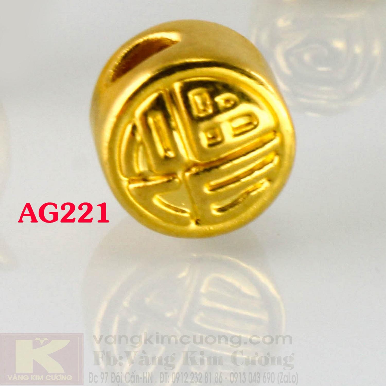 Charm cầu phúc lộc 24k mã AG221