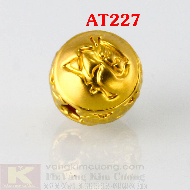 Charm hoa hồng 24k mã AG227