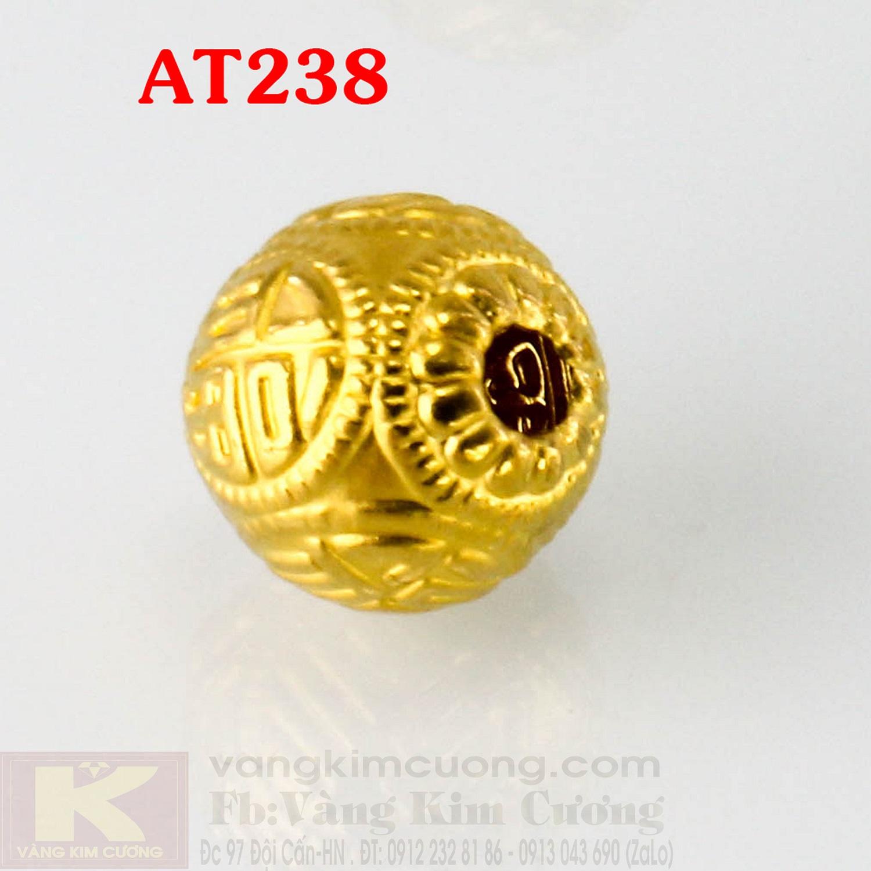 Charm hạt may mắn 24k mã AT238