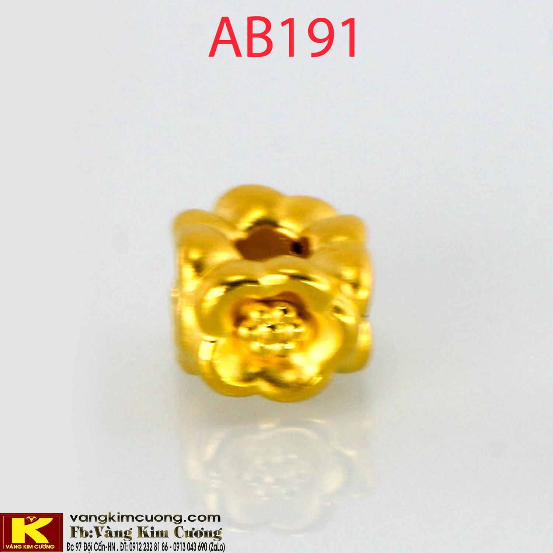 Charm tứ hoa 24k mã AB191
