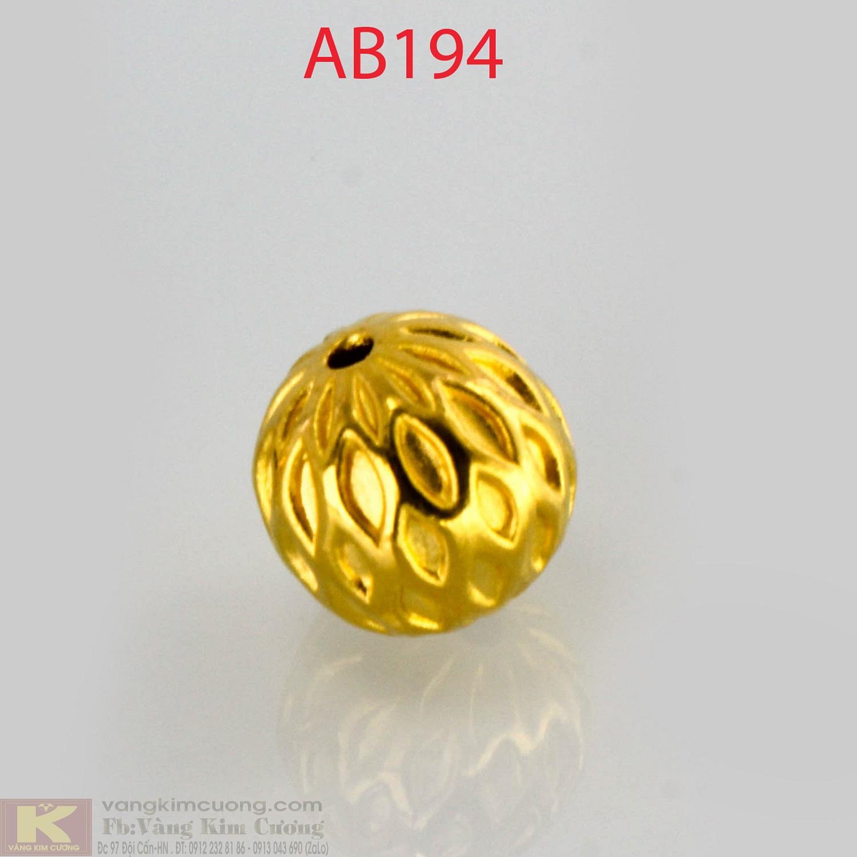 Charm cầu tài lộc 24k mã AB194