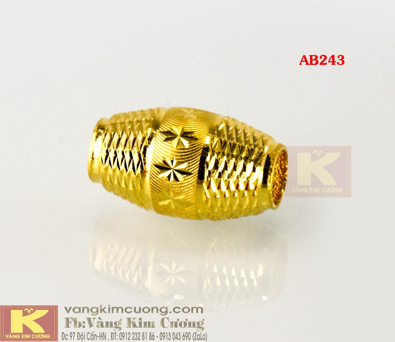Charm hạt cầu vàng 24k mã AB243