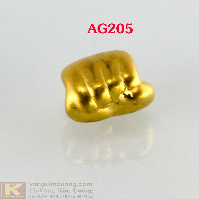 Charm nắm tay quyền lực 24k mã AG205