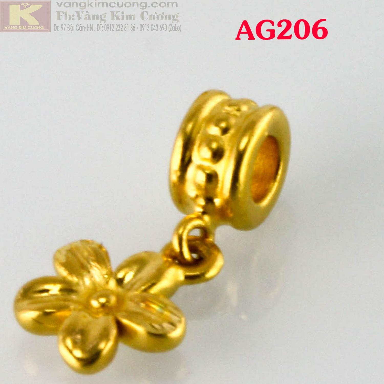 Charm hoa vàng 24k mã AG206