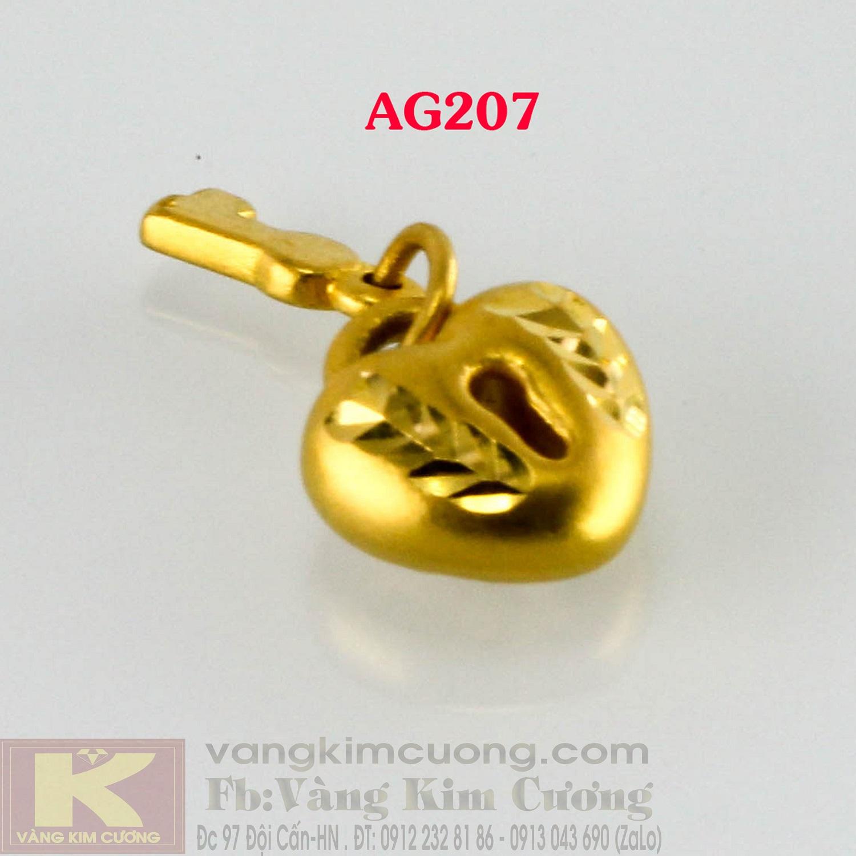 Charm khóa tình yêu 24k mã AG207