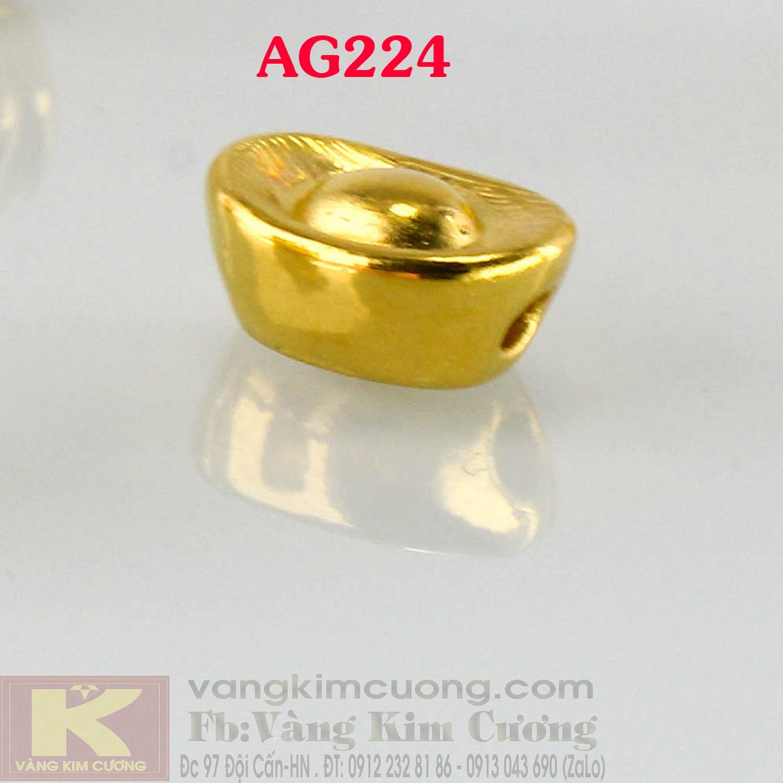 Charm hũ vàng 24k mã AG224