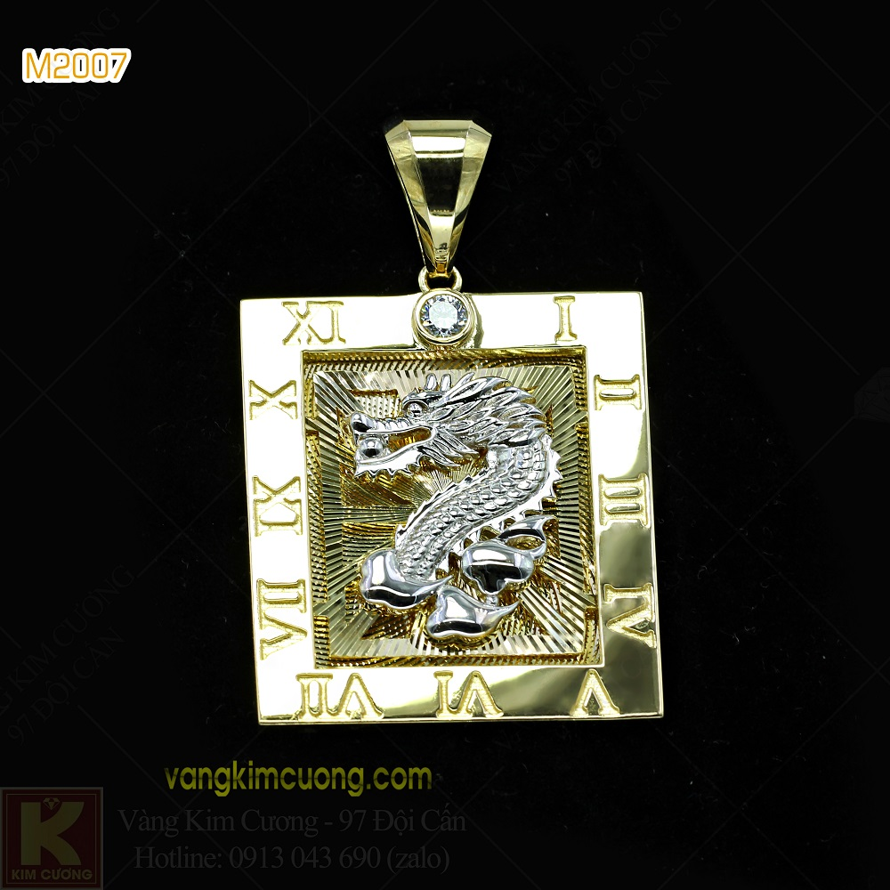 Mặt dây nam 10k korea M2007