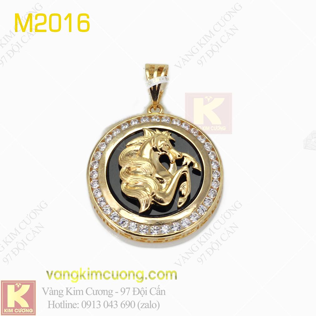Mặt dây nam vàng 16k M2016