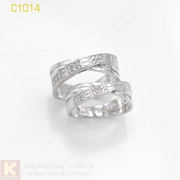 Nhẫn cưới italy 18k C1014