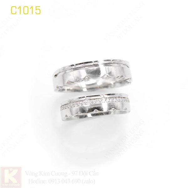 Nhẫn cưới italy 18k C1015
