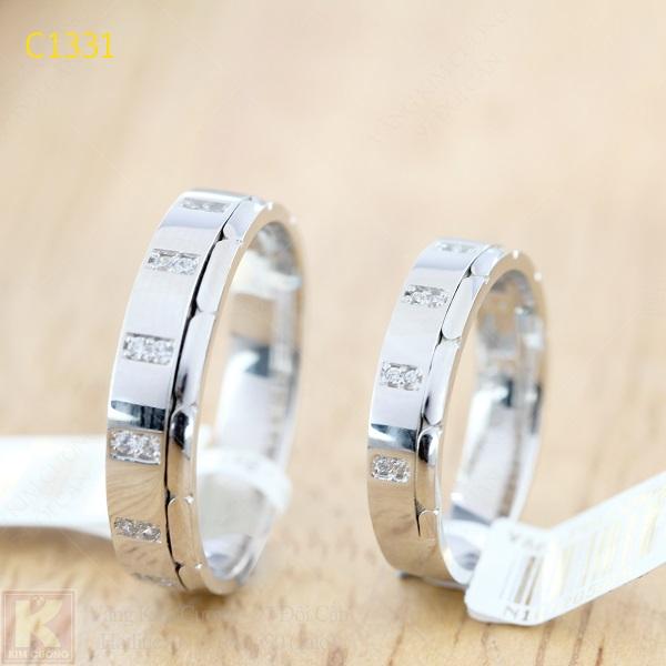 Nhẫn cưới kim cương italy 18k C1331