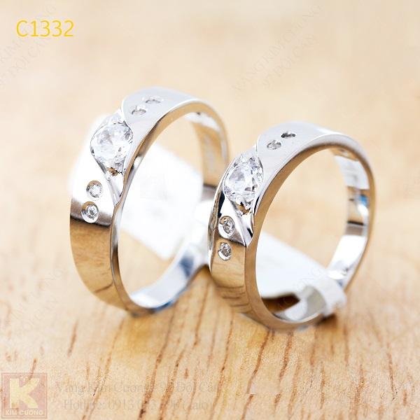 Nhẫn cưới kim cương italy 18k C1332
