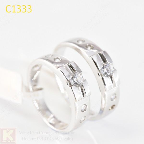 Nhẫn cưới kim cương italy 18k C1333