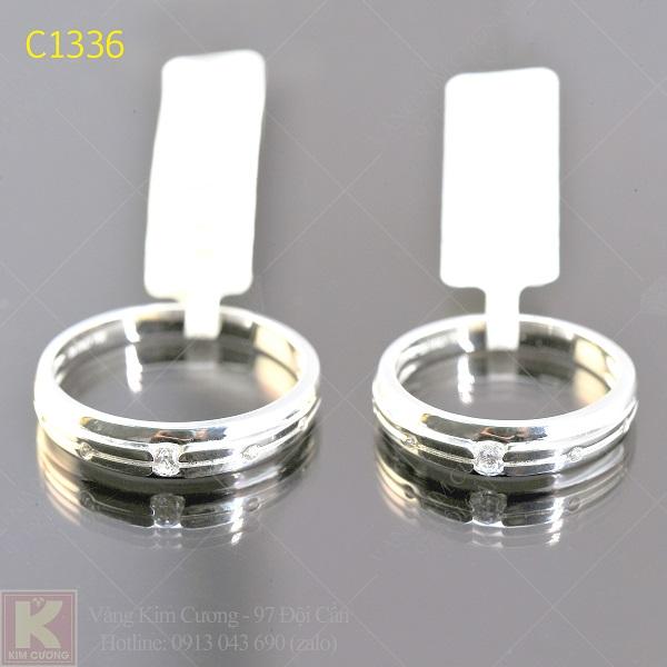 Nhẫn cưới kim cương italy 18k C1336