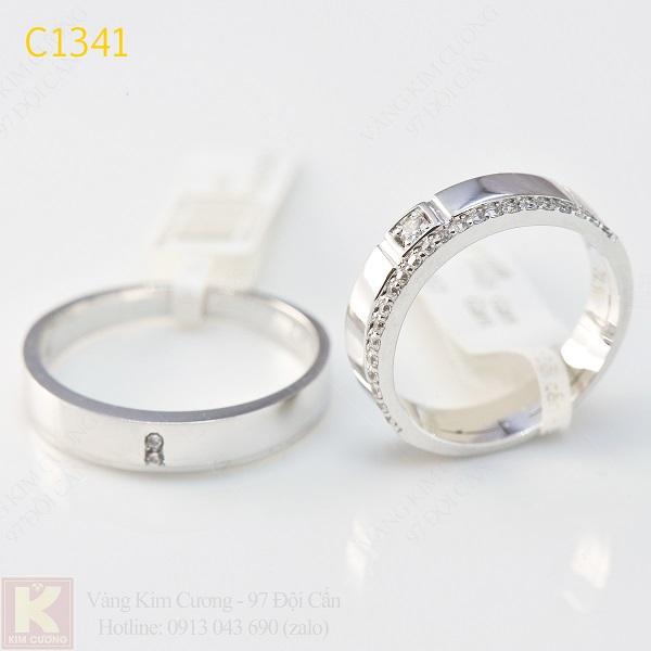 Nhẫn cưới kim cương italy 18k C1341