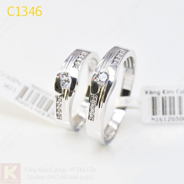 Nhẫn cưới kim cương korea C1346
