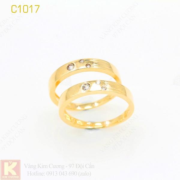 Nhẫn cưới vàng 16k C1017