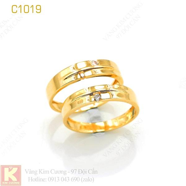 Nhẫn cưới vàng C1019
