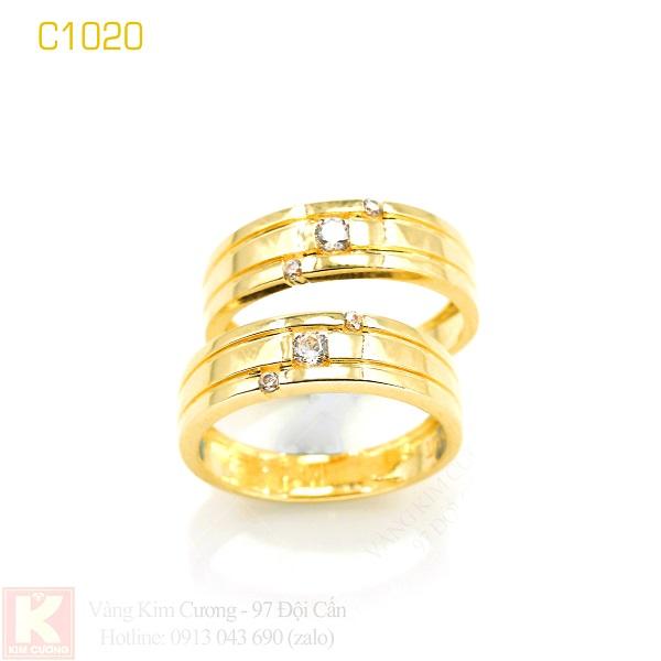 Nhẫn cưới vàng 16k C1020