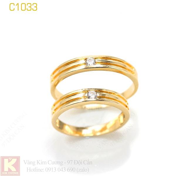 Nhẫn cưới vàng 16k C1033