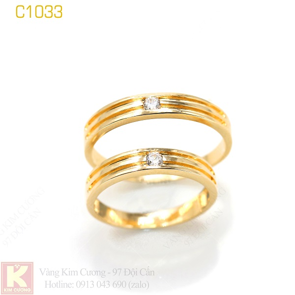 Nhẫn cưới vàng C1033