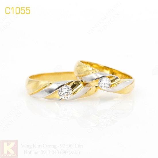 Nhẫn cưới vàng 10k C1055