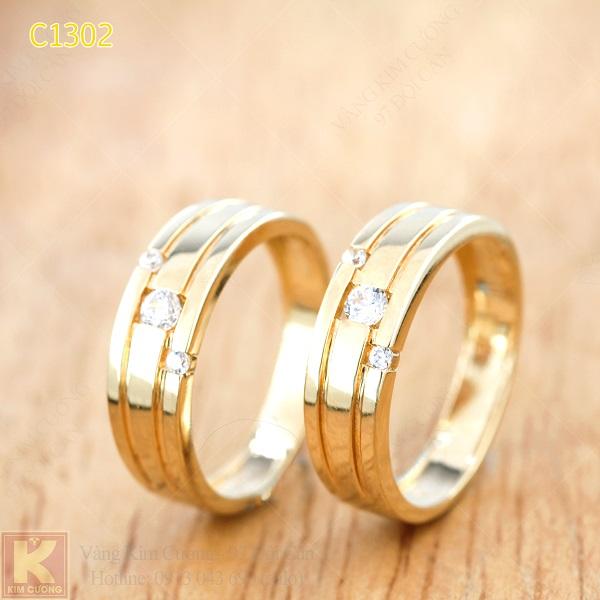 Nhẫn cưới vàng 16k C1302
