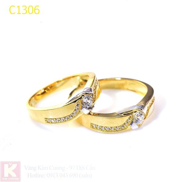 Nhẫn cưới vàng 10k korea C1306