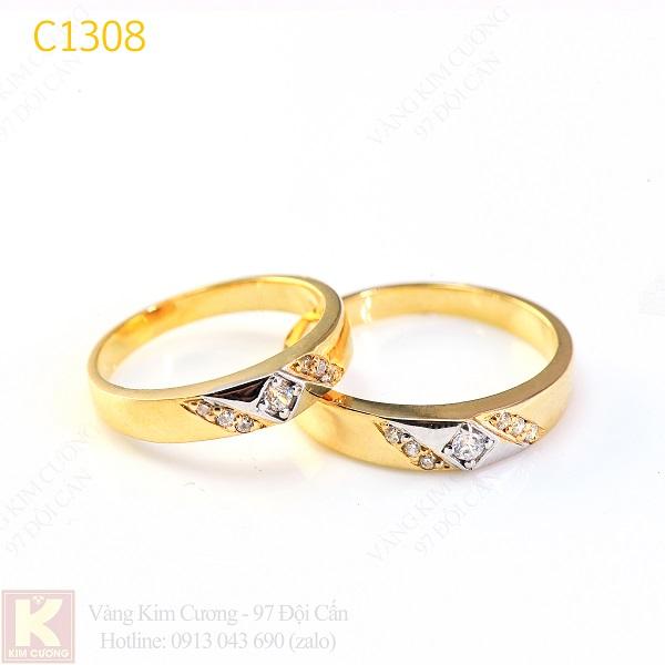Nhẫn cưới vàng 14k C1308