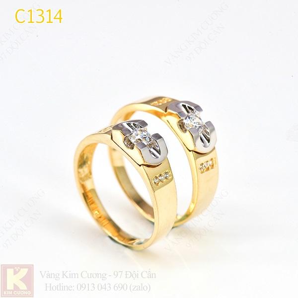 Nhẫn cưới vàng 10k korea C1314
