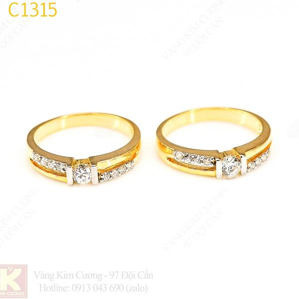 Nhẫn cưới vàng C1315