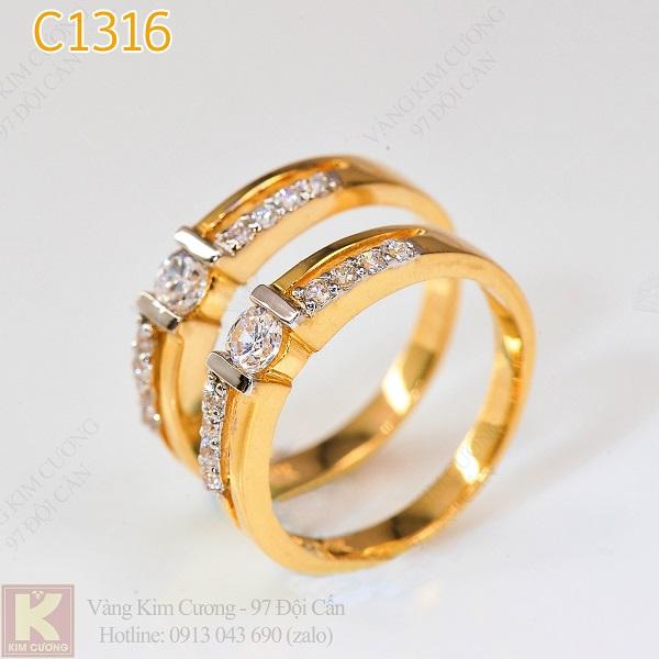 Nhẫn cưới vàng 14k C1316