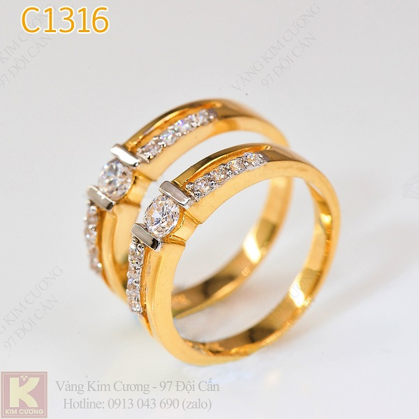 Nhẫn cưới vàng C1316